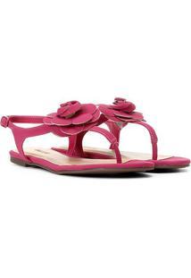 Rasteira Anacapri Flor - Feminino-Pink