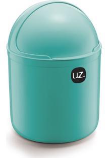 Lixeira Plus Verde-Água 4 L