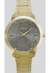 Relógio Analógico Condor Feminino - Co2035Krh4C Dourado