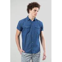 Camisa Jeans Reserva Mc Enxuto Murere Masculina - Masculino c64bb896c05