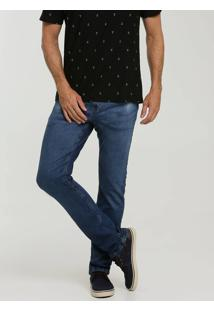 Calça Masculina Jeans Slim Bolsos Mr