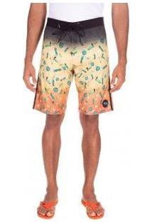 Bermuda Oakley Tropical Big Pattern Masculina - Masculino-Amarelo