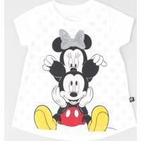 c49ae2277 CEA. Blusa Infantil Minnie E Mickey Com Paetê Manga Curta Decote Redondo ...