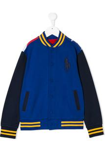 Ralph Lauren Kids American Ski Bomber Jacket - Azul
