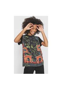Camiseta Colcci Feline Preta