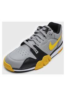 Tênis Nike Sportswear Cross Trainer Low Cinza/Amarelo