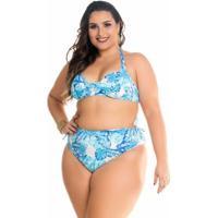 a82cbedb5 Biquini Maré Brasilplus Size Com Argolas Nas Alças - Feminino-Azul