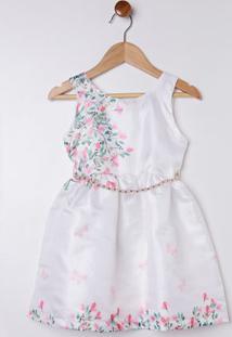 Vestido Infantil Para Menina - Branco