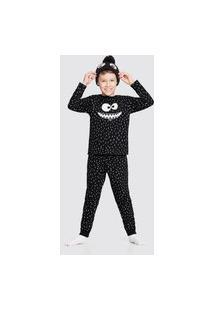 Pijama Infantil Alakazoo Monstrinho Preto