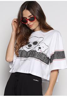 Camiseta Cropped Coca-Cola Polar Bear Feminina - Feminino