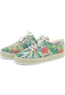 Tênis Mu Shoes Campeche Floral Juta Bege d9d409c40c