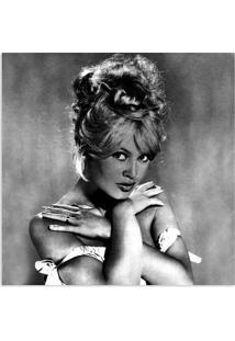 Quadro Brigitte Bardot Uniart Preto & Branco 45X45Cm