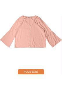 Camisa Feminina Viscolinho Rosa