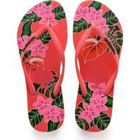 55929b4a17 Chinelo Feminino Havaianas Slim Tropical 6024