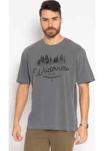Camiseta Com Inscrições - Cinzaindividual