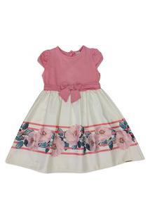 Vestido Em Cotton E Ferrine 8 Anos Açucena