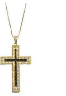 Colar Le Diamond Cruz Dourado - Kanui