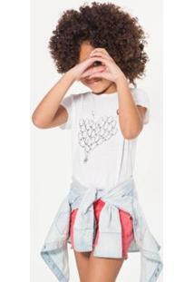 Camiseta Balão Reserva Mini Feminina - Feminino-Branco