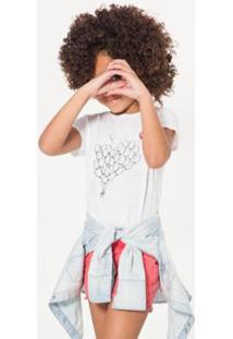 Camiseta Infantil Balão Reserva Mini Feminina - Feminino-Branco
