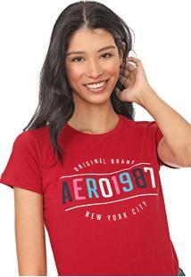 Camiseta Aeropostale New York Vermelha