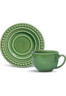 Xícara De Chá Com Pires Atenas Verde