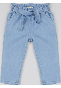 Calça Jeans Infantil Clochard Azul Médio