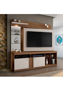 Estante Para Home Theater E Tv Até 60 Polegadas Brasil Rovere E Off White