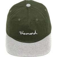 cf2549b05f52f Boné Diamond Supply Co Snapback Script Two Ton Verde Cinza