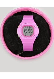 Relógio Digital Blueman Feminino - 80633L0Egnp1 Pink - Único