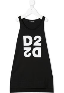Dsquared2 Kids Vestido Com Estampa De Logo D2 - Preto