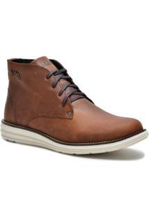 75356af9e Bota Couro Tchwm Shoes Cano Medio Social Masculina - Masculino-Marrom Claro