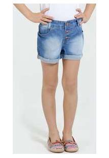 Short Infantil Jeans Botões Marisa