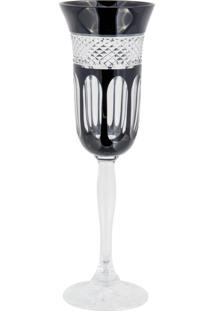 Taça De Cristal Lodz Para Champanhe De 150 Ml - Black