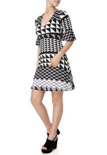 Vestido Feminino Preto/Cinza
