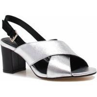 b5a95ca47 Betisa. Sandália Zariff Shoes Salto Metalizada