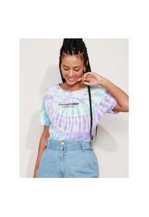 Camiseta Feminina Now United Estampada Tie Dye Manga Curta Multicor