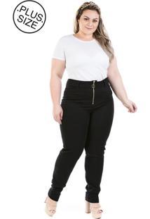 16d5f9a2a5 Calça Plus Size - Confidencial Extra Denin Legging Com Zíper