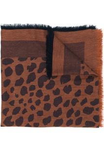 Paul Smith Echarpe Estampada De Lã - Brown