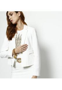 Jaqueta Com Recortes & Bolsos - Off White - Versaceversace