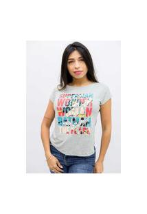Camiseta Sideway Liga Da Justiça - Cinza