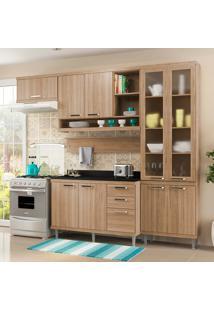 Cozinha Compacta Com Tampo 6 Peças 5817-S9T Sicília - Multimóveis - Argila Acetinado