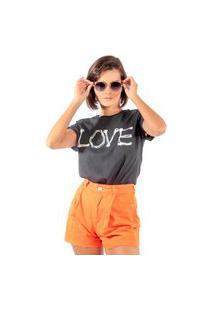 Camiseta Feminina Mirat Love Bonespreto