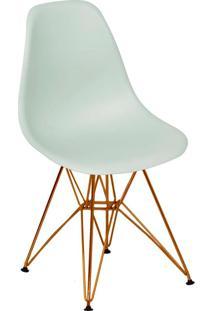Cadeira Com Base Em Cobre Eames 1102-Or Design - Verde Claro