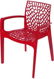 Cadeira Gruver Com Braco Polipropileno Vermelho - 30474 Sun House