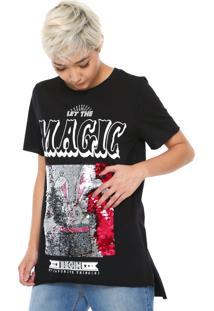 Camiseta My Favorite Thing(S) Paetês Preta
