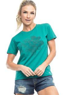 "Camiseta ""Trevo""- Verde & Pretavestem"