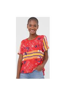 Camiseta Forum Floral Vermelha
