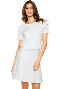 Vestido Lança Perfume Renda Branca