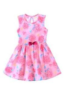 Vestido Flores E Laço Rosa - Elian