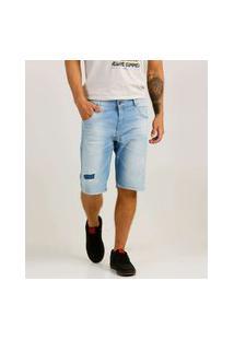 Bermuda Masculina Destroyed Zune Jeans
